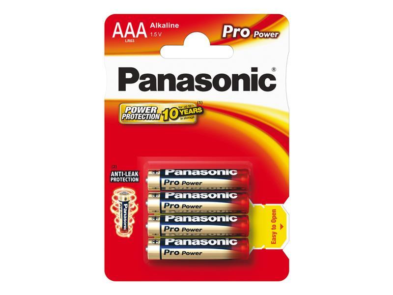 Baterie AAA(LR03) alkalická PANASONIC Pro Power 4BP