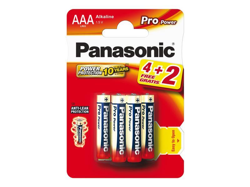 Baterie AAA (R03) alkalická PANASONIC Pro Power 6BP