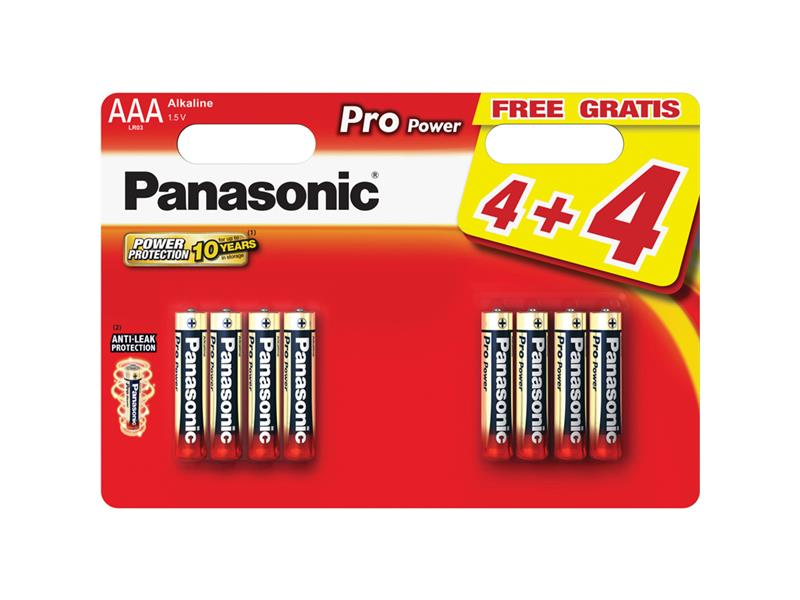 Baterie AAA(LR03) alkalická PANASONIC Pro Power 8BP