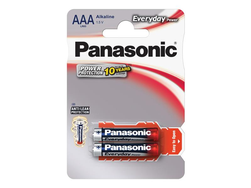 Baterie AAA(LR03) alkalická PANASONIC Everyday Power 2BP