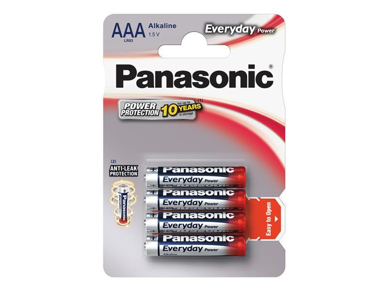 Baterie AAA(LR03) alkalická PANASONIC Everyday Power 4BP