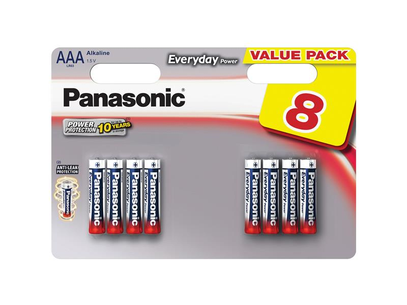 Baterie AAA(LR03) alkalická PANASONIC Everyday Power 8BP