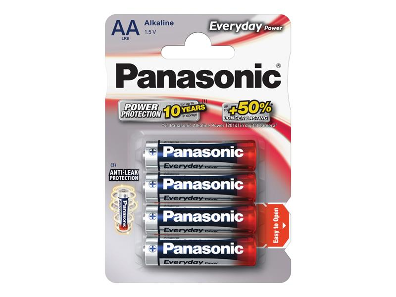 Baterie AA (R6) alkalická PANASONIC Everyday Power LR6 4BP