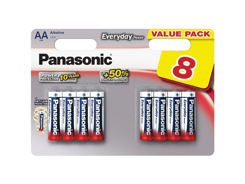Baterie AA (R6) alkalická PANASONIC Everyday Power LR6 8BP