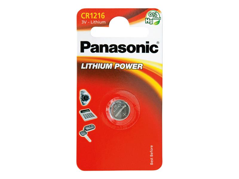 Baterie CR-1216 PANASONIC lithiová 1BP