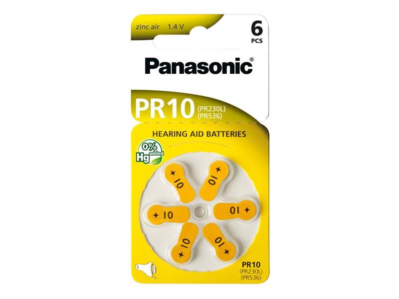 Baterie PANASONIC AZ10/V10/PR230 do naslouchadel 6BL zinkovzdušné