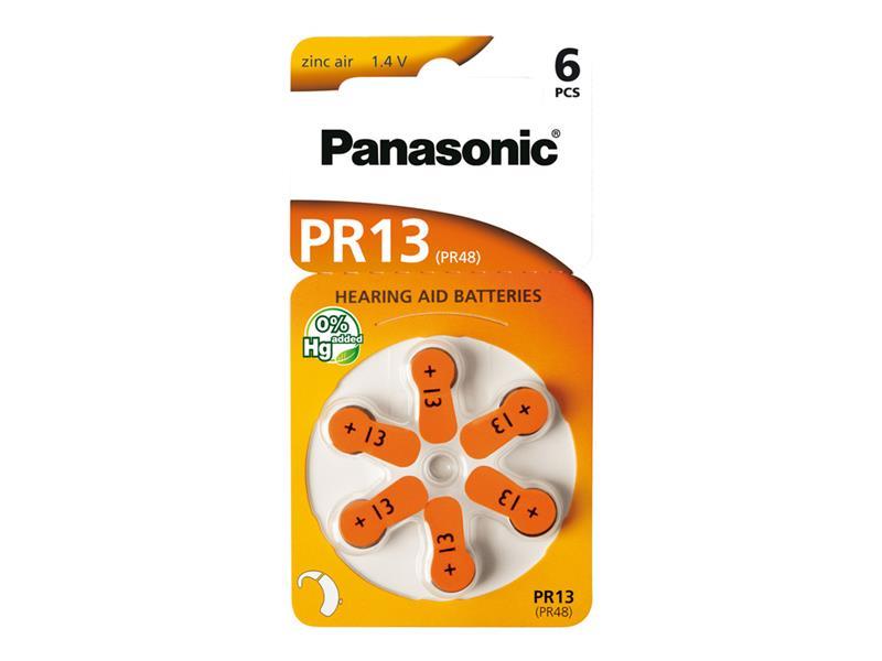 Baterie PANASONIC AZ13/V13/PR13 do naslouchadel 6BL zinkovzdušné