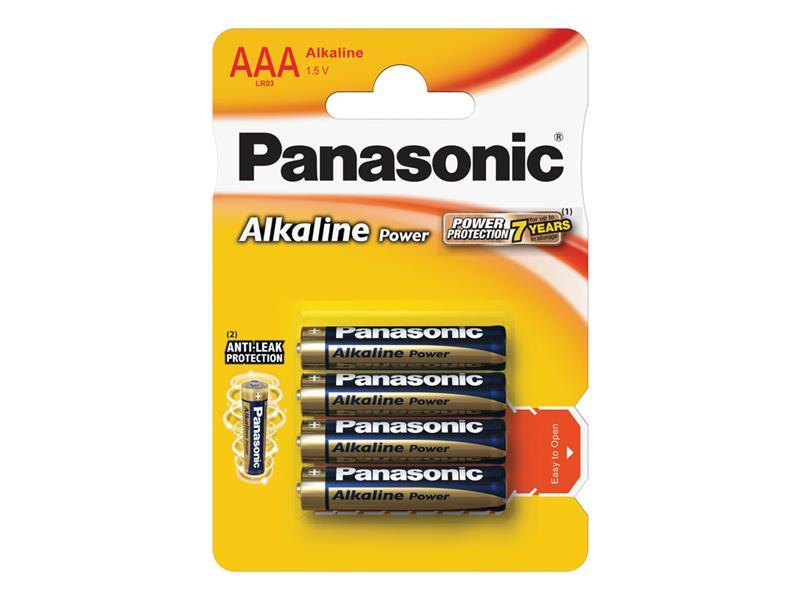 Baterie AAA (R03) alkalická PANASONIC Alkaline Power 4BP