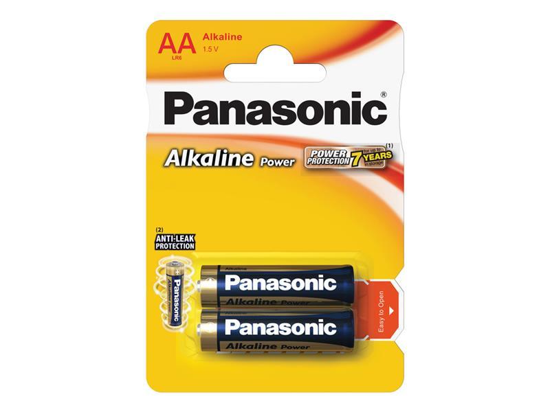 Baterie AA (R6) alkalická PANASONIC Alkaline Power LR6 2BP