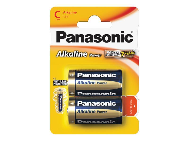Baterie C (R14) alkalická PANASONIC Alkaline Power 2BP