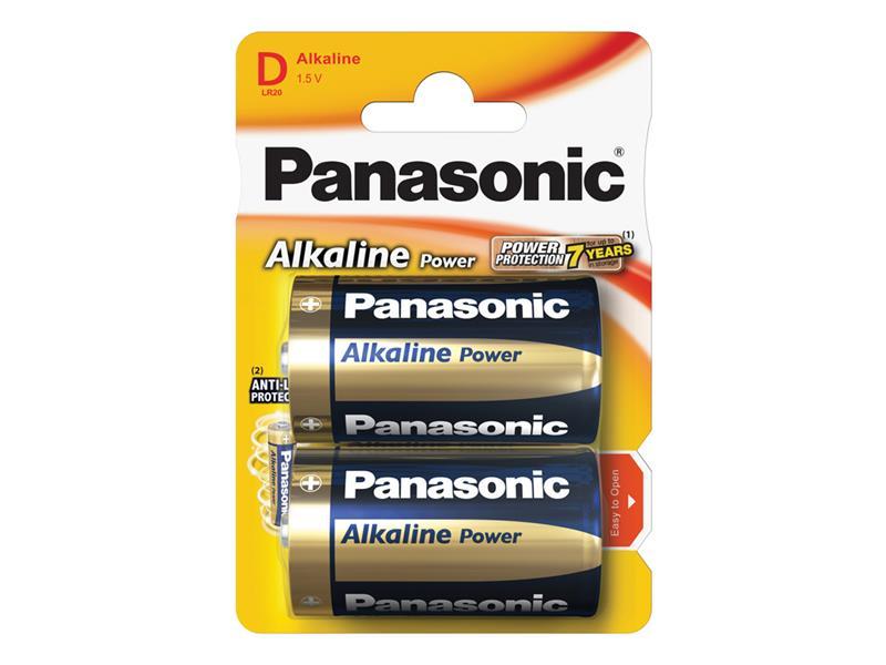 Baterie D (R20) alkalická PANASONIC Alkaline Power 2BP