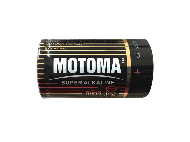 Baterie D (LR20) alkalická MOTOMA Super Alkaline