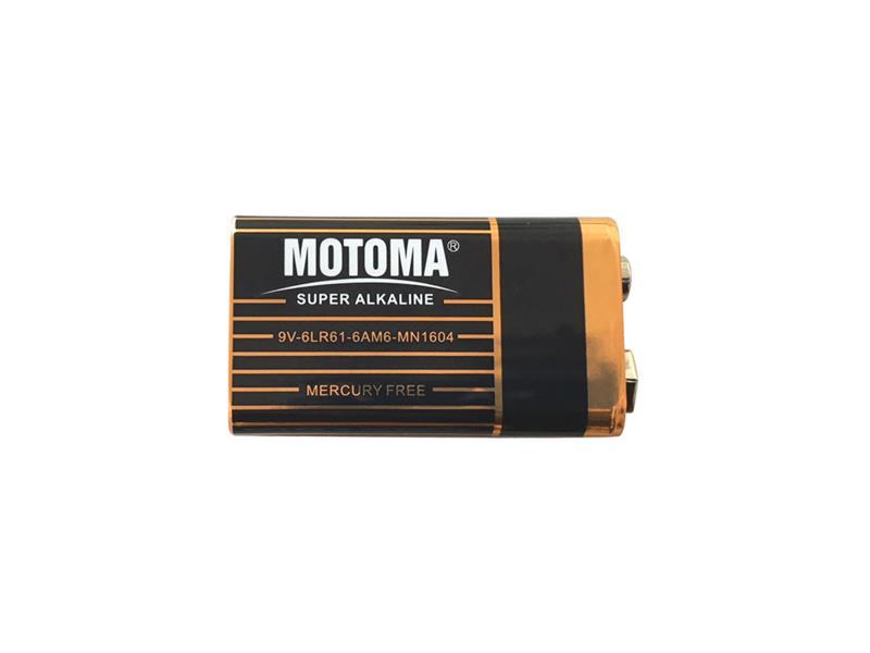 Baterie 9V (6LR61) alkalická MOTOMA Super Alkaline