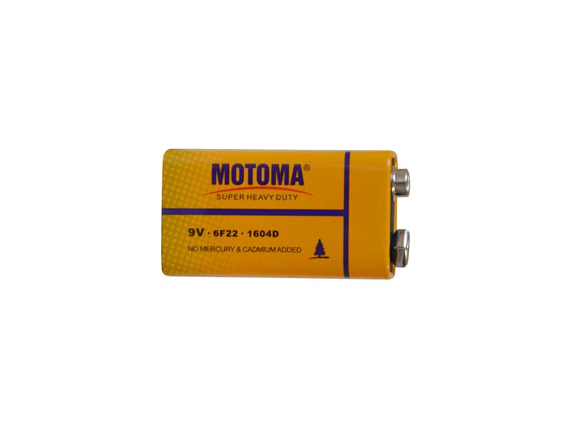 Baterie 6F22 (9V) Zn-Cl MOTOMA