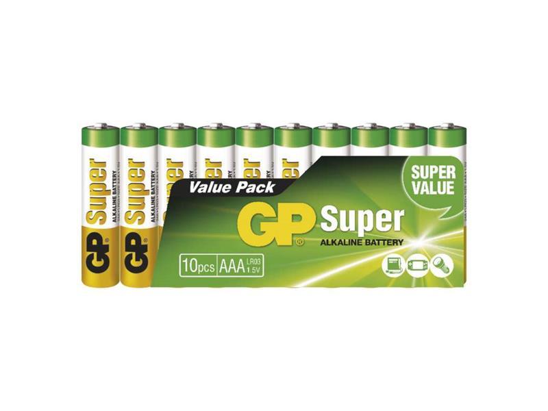 Baterie AAA (R03) alkalická GP Super Alkaline  10ks