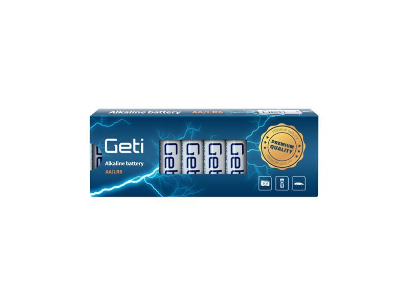 Baterie AA (LR6) alkalická Geti 1,5V (10 kusů)