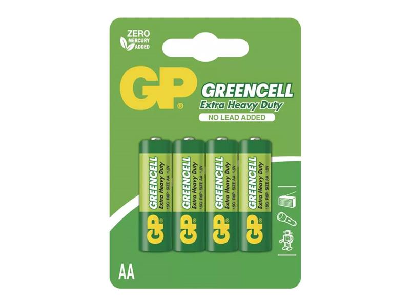 Baterie AA (R6) Zn-Cl GP Greencell  4ks