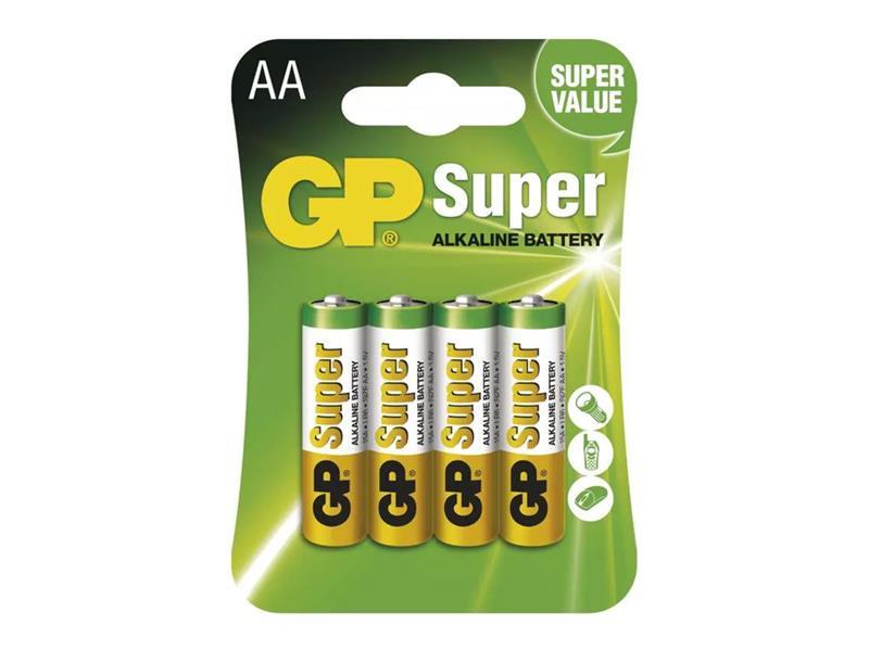 Baterie AA (R6) alkalická GP Super Alkaline  4ks