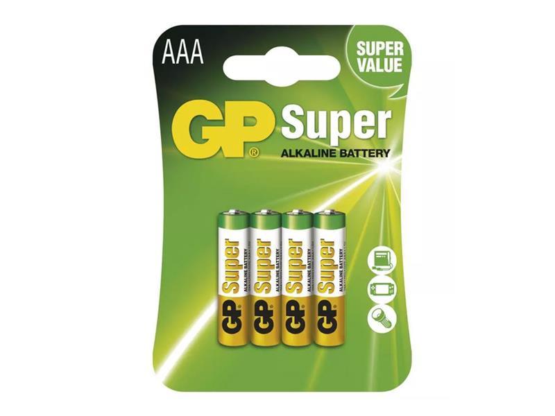Baterie AAA (R03) alkalická GP Super Alkaline  4ks