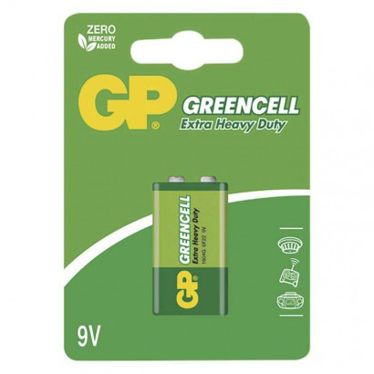 Baterie 6F22 (9V) Zn-Cl GP Greencell  blistr