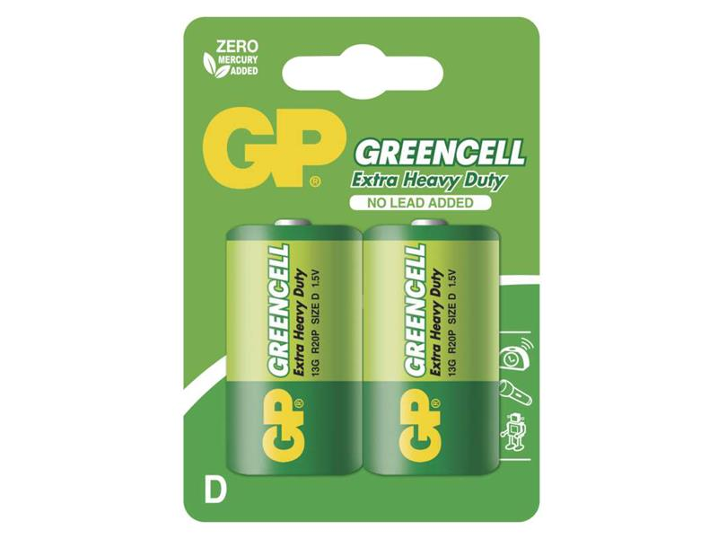 Baterie D (R20) Zn-Cl GP Greencell  2ks
