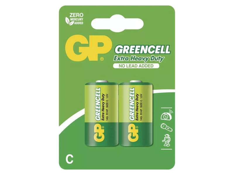 Baterie C (R14) Zn-Cl GP Greencell  2ks