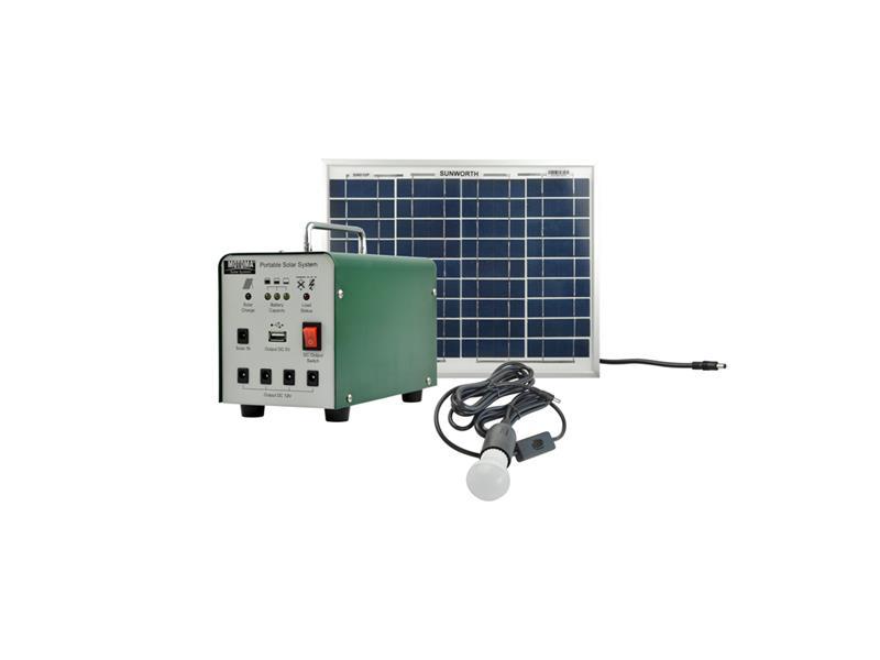 Fotovoltaický přenosný solární set MOTOMA 10W (AGM)