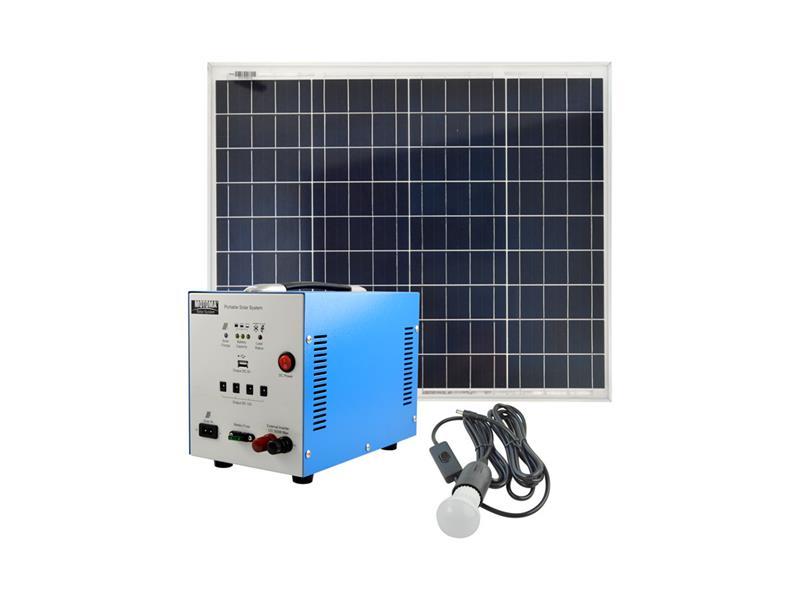 Fotovoltaický přenosný solární set MOTOMA 50W (AGM)