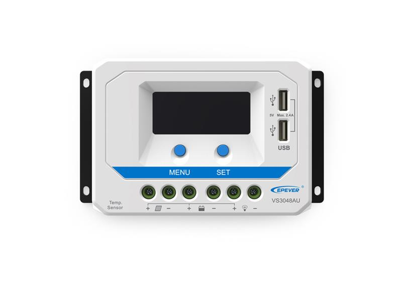 SolárníregulátorPWM EPsolar30A12V/24Vs displejem