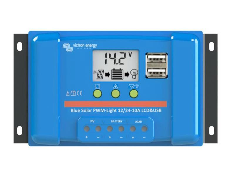 SolárníregulátorPWMVictron Energy10A LCD a USB12V/24V