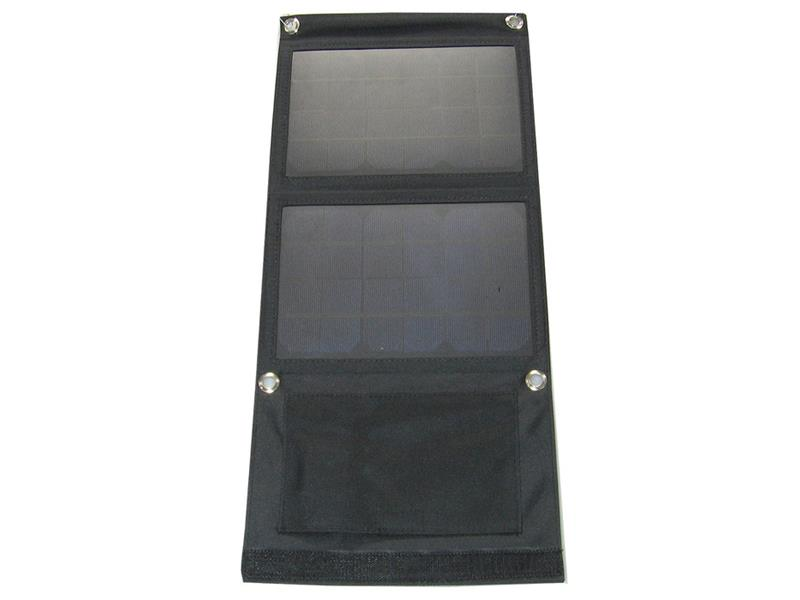Fotovoltaický solární panel 7W s USB, přenosný, skládací