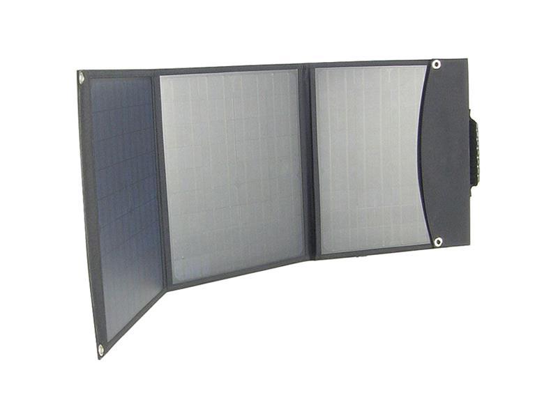 Fotovoltaický solární panel USB+12V/60W přenosný, skládací