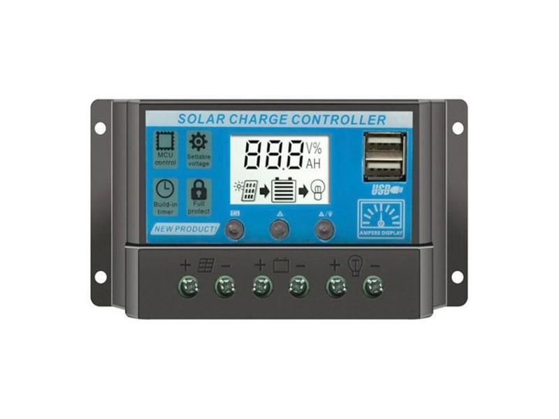 Solární regulátor PWM KLX1220 12V/20A+USB
