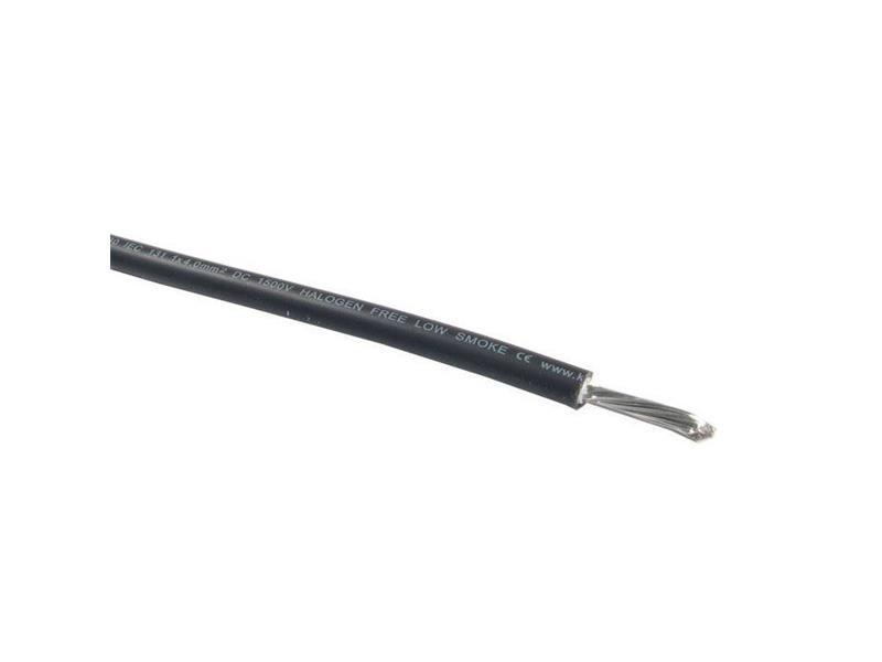 Solární kabel SOL 10.0 mm2 černý, 1m