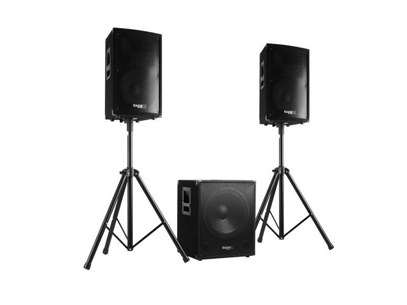 Reprosoustava IBIZA CUBE1512 - aktivní ozvučovací set