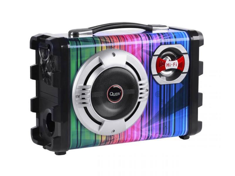 Reprosoustava přenosná QUER aktivní, MP3, Karaoke, 20W zesilovač KOM0836