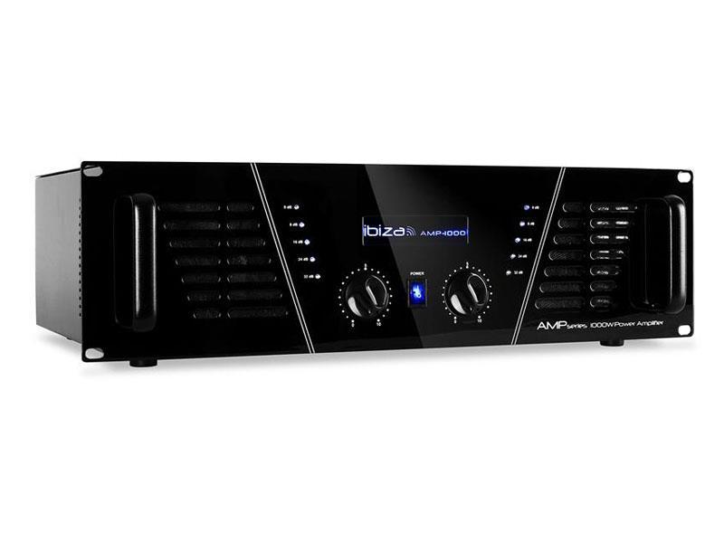 Zesilovač IBIZA 2x800W AMP1000 černý