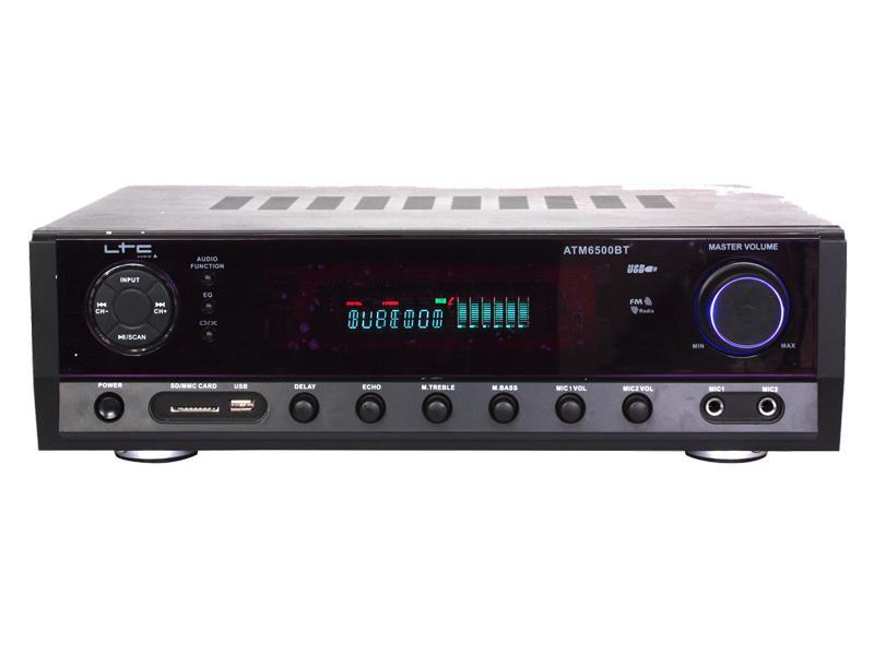 Zesilovač LTC ATM6500BT, Bluetooth, Karaoke, 2x50W + 3x 20W