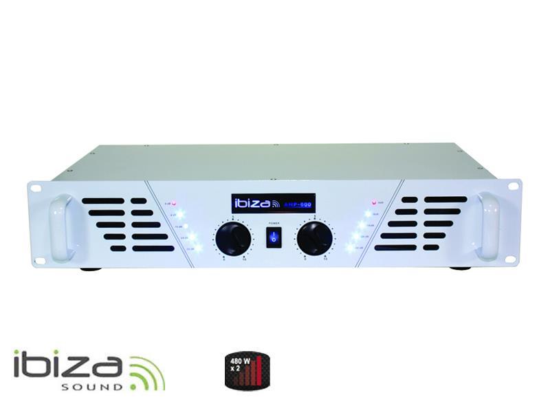 Zesilovač IBIZA 2x480W AMP600-WH bílý