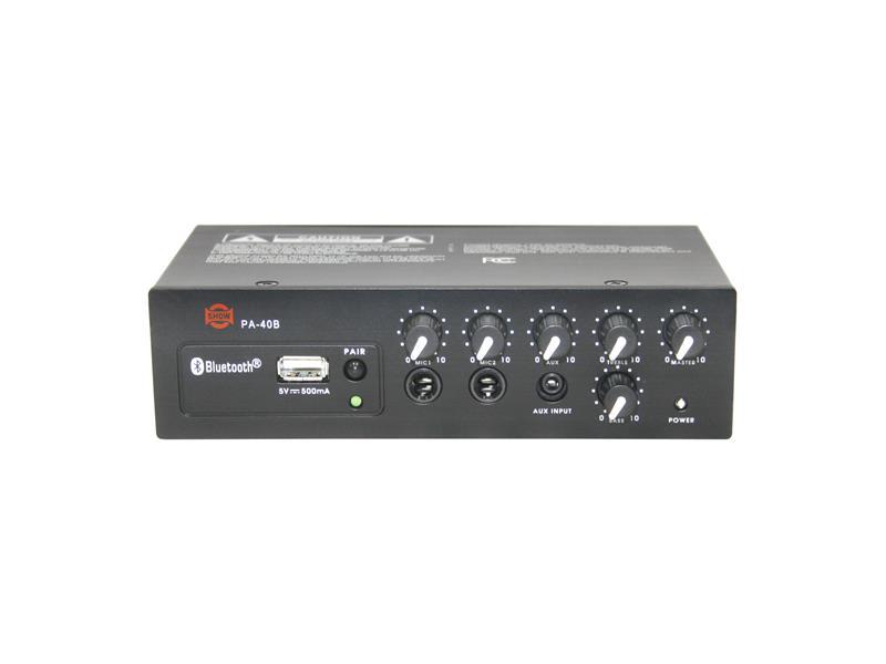 Zesilovač SHOW PA-40B (audio), Bluetooth, 1 x 40W/4 Ω