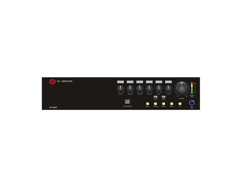 Zesilovač SHOW DA-480Z (audio), 1 x 480W/70V/100V, 4 zóny