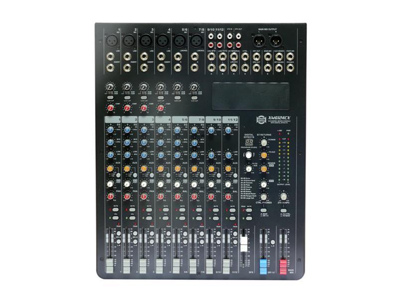 Mixér SHOW XMG124CX, 12 vst. audio kanálů