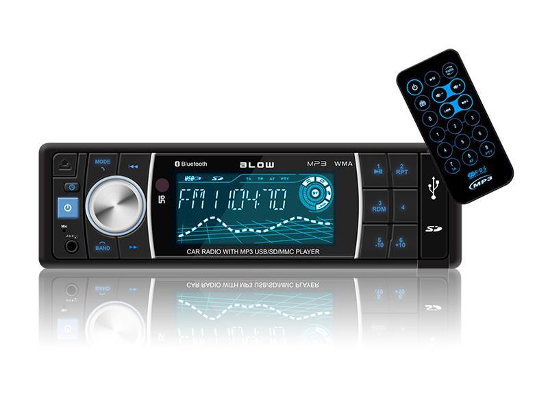 Autorádio BLOW AVH-8686 MP3, USB, SD, MMC, FM, BLUETOOTH + dálkový ovladač