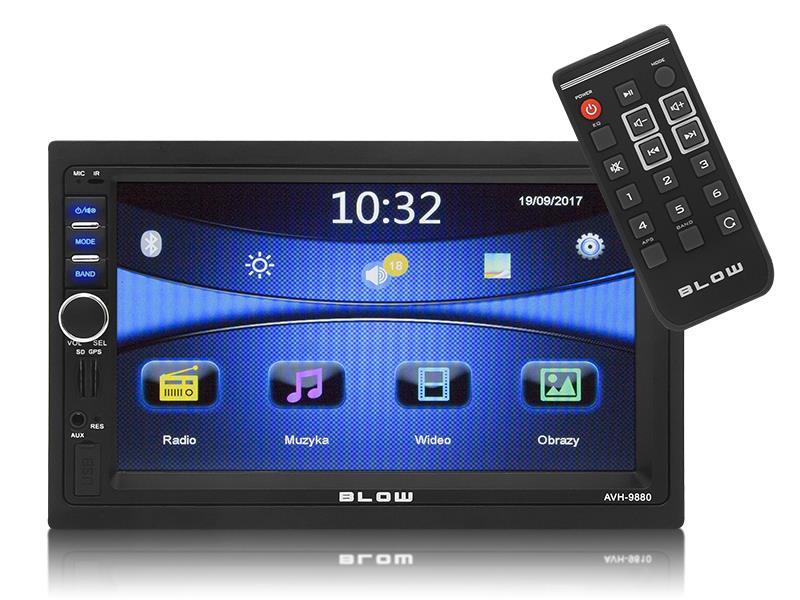 Autorádio BLOW AVH-9880 MP3, USB, SD, MMC, FM, GPS + dálkové ovládání