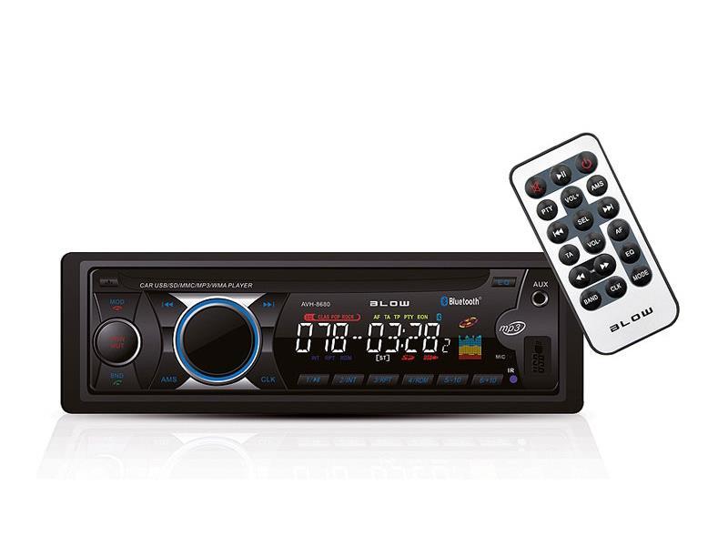 Autorádio BLOW AVH-8680 MP3, USB, SD, MMC, FM, BLUETOOTH, dálkové ovládání II. jakost