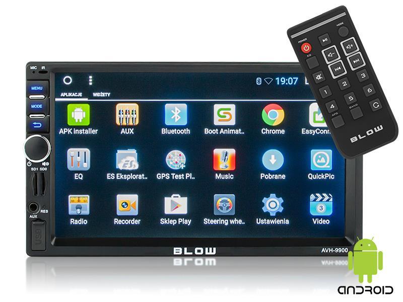 Autorádio BLOW AVH-9900 MP3, USB, SD, MMC, FM, GPS, WIFI, BLUETOOTH + dálkový ovladač