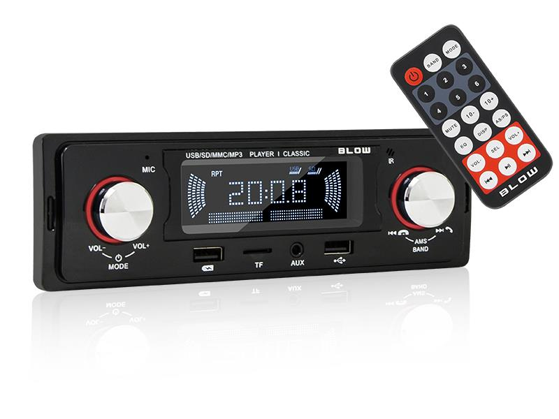 Autorádio BLOW AVH CLASSIC MP3, USB, SD, MMC, FM, BLUETOOTH + dálkový ovladač