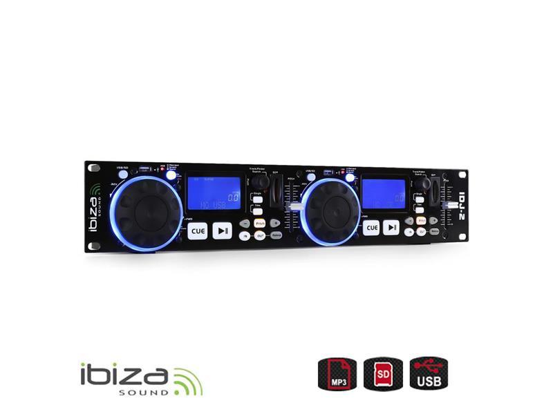 Přehrávač IBIZA IDJ2 dvojitý USB,SD,MP3, DJ Controller
