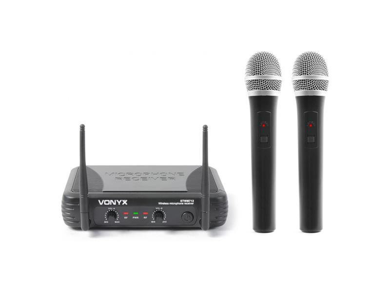 Vonyx mikrofonní set VHF, 2 kanálový, 2x ruční mikrofon