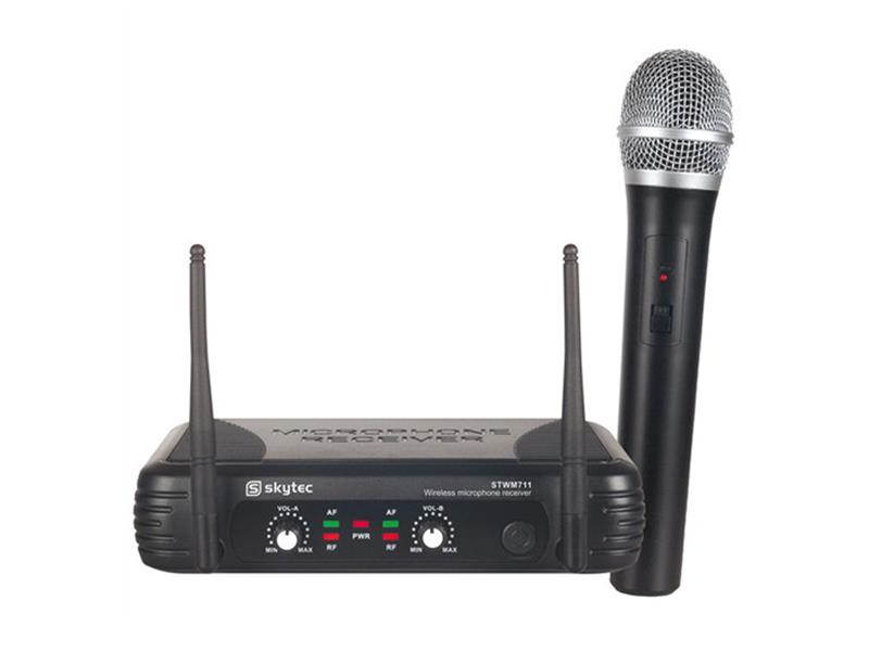 Skytec mikrofonní set VHF, 1 kanálový, 1x ruční mikrofon